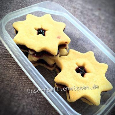 Heidelbeer Marzipan Sterne